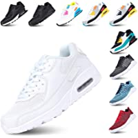 Chaussure de Course Femme Basket Running Homme Lacets Fitness Sports Sneakers Basses Mode Casual Respirant Maille Noir…