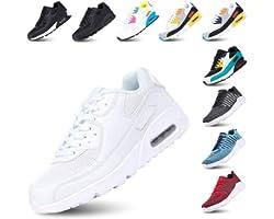 Zapatillas de Deportivas para Mujeres Zapatillas Correr Hombre Sneakers Cordones Plataforma Running Gimnasia Ligero Respirabl