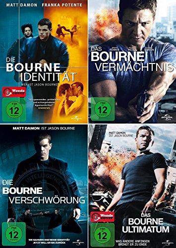 Preisvergleich Produktbild Die komplette Bourne Collection - Identität + Vermächtnis + Ultimatum + Verschwörung (4-DVD) Kein Box-Set