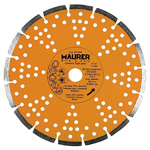 Maurer 9012010 Disco de Diamante segmentado Laser, Granito 230 mm