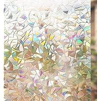 Rabbitgoo Vinilo Ventana Vinilo Cristal Libre de Adhesivo Vinilo Translucido Película de La Ventana 3D Laminas Electrostaticas para Ventanas de Puertas Cristal, Cocina,Muebles de Cristal 44.5 * 200CM