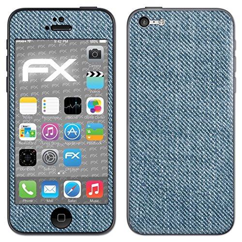 """Skin Apple iPhone 5C """"FX-Carbon-Black"""" Designfolie Sticker FX-Denim-Blue"""