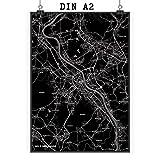 Mr. & Mrs. Panda Poster DIN A2 Stadt Bonn Stadt Black -
