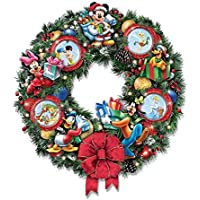 The Bradford Exchange 'It's A Magical Disney Christmas' - Illuminated Wreath - Ornaments and Characters - Handcrafted