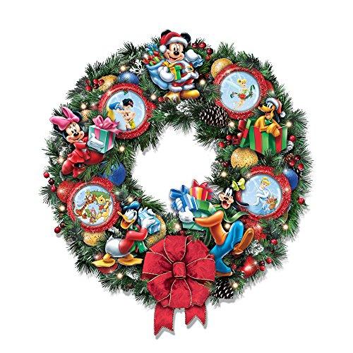 The Bradford Exchange Magische Weihnachten mit Disney – Beleuchteter Weihnachtskranz