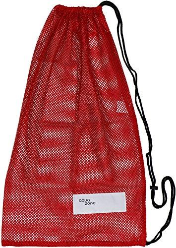 Sacca di attrezzatura sportiva in rete, per nuoto spiaggia immersioni viaggi palestra, Red