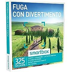 Idea Regalo - smartbox - Cofanetto Regalo - Fuga con Divertimento - 325 soggiorni in agriturismi e Hotel 3*