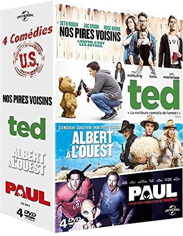 4 comédies U.S.: Nos pires voisins + Ted + Albert à l