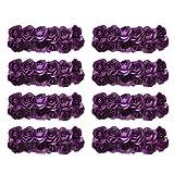 144 stk. Rose Blüten Blumen für Hochzeit - Künstliche Papier (Lila)