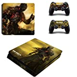 Dark souls Skin Sticker for Sony Playstation 4 (Slim) and Remote Controllers