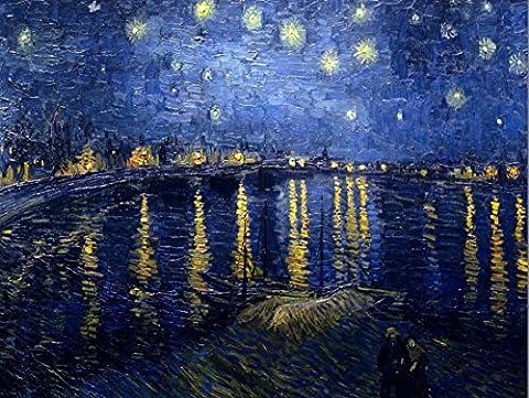VINCENT VAN GOGH STARRY NIGHT 1888 OLD MASTER ART PAINTING PRINT 12x16 inch 30x40cm POSTER PLAKAT 2989OM