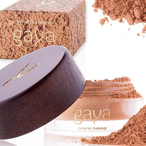 Gaya Cosmetics Foundation Make Up Puder – Vegan Mineral Professionelle Natürliche Full Coverage...