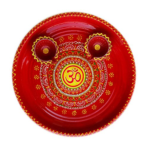 Salvus App SOLUTIONS handmade diwali special pooja thali with decorated diye set  available at amazon for Rs.429