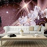 murando® Fototapete 350x245 cm - Vlies Tapete - Moderne Wanddeko - Design Tapete - Wandtapete - Wand Dekoration - Blumen Magnolien Abstrakt Blitz Diamant b-A-0237-a-c