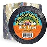 Holographic Bird Scare Ribbon, Double Side Laser Bird Scare Tape 2 Inch x 100 Feet