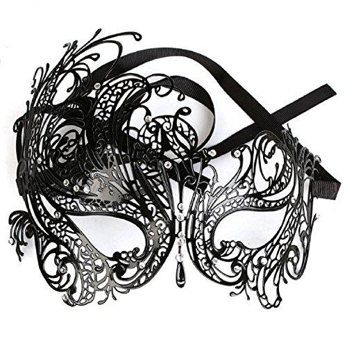 Venizianische Party Karneval Fasching Prinzessin Metall Strass Maske (Maske Strass)
