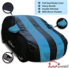 Autofurnish Stylish Stripe Body Cover for Maruti Baleno (Blue)