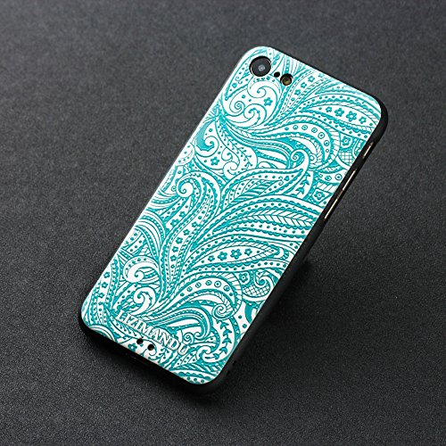 iPhone 8 Cover,iPhone 7 Cover,Lizimandu Creative 3D Schema UltraSlim TPU Copertura Della Cassa Del Custodia Case Tacsa Protettiva Shell per Apple iPhone 7/8(Fiore Blu/Blue Flower) Spirale/Spiral