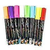 8stylos Surligneur 6mm Couleurs liquide Surligneur fluorescent plaque pour tableau blanc, tableau noir, fenêtre