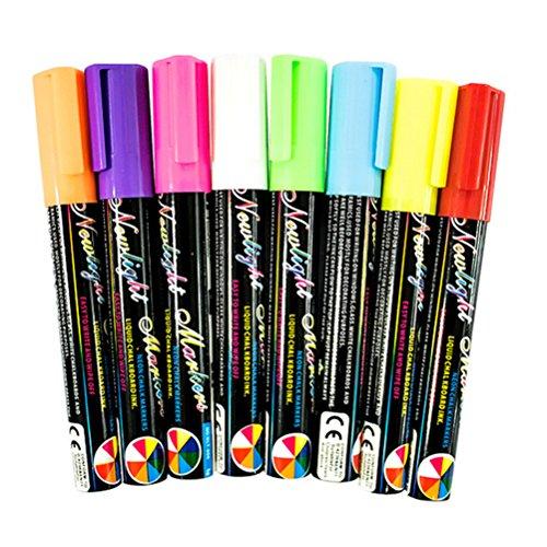 8colores rotuladores 6mm penfill líquido subrayador