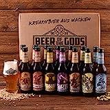 Wacken Brauerei Göttergabe Craft Beer Paket - 14 x Beer of the Gods 0,33l inkl. Craftbeer Glas - Craft beer Set - Geschenkset Bier