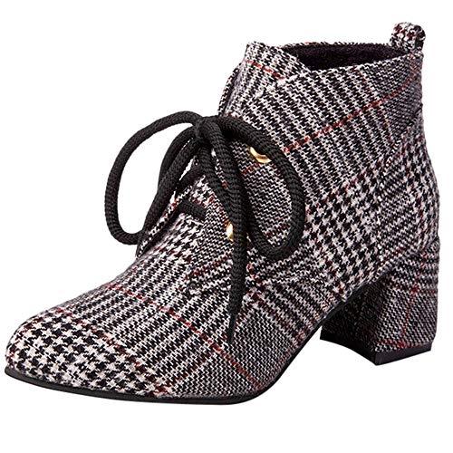 Zapatos de Invierno,ZARLLE Botines para Mujer Cool Chicas...