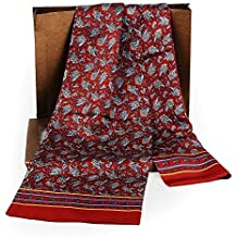 Foulard En Soie Double Couche Automne Hiver Vintage Mode Chaud Loisirs Essentiel Confortable Foulard