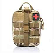 First Aid Kit Medical Utility Bag Tactical EMT Small Military Medical Blowout IFAK Kit Pouch for Camping Home Workplace