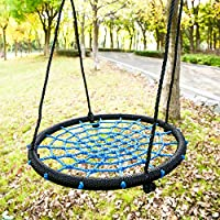 Leisure Zone ® Childrens Kids Outdoor Nest Disc Swing Tree Spider Net Mesh Play Fun Toy (Type-1)