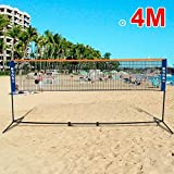 Best Volleyball Nets - Popamazing 400 CM Adjustable Foldable Badminton Tennis Beach Review