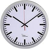 Hama Radioväggklocka (stort DCF-klockslag med automatisk tidsinställning, jumboklocka med 30 cm diameter) silver
