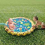 UOKOO Sprinkle und Splash Spielmatte, Wasserspielzeug für Kinder / Hund / Katze / Haustiere, Sommer Spielzeug für Outdoor-Familienaktivitäten