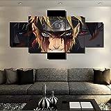 FJNS Naruto Evil Smile Impression sur Toile 5 pièces Multi Panel pour Le Salon Home Decor Gallery Art Cadeau de décoration Mu
