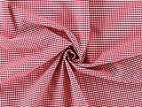 Baumwollstoff 2,5 mm Karo rot, Meterware ab 0,5 m / 100% Baumwolle/Top-Qualität/Stoffe Hemmers