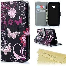 xcover4móvil Mavis 's Diary Samsung Galaxy Xcover 4Funda Funda Schluss magnético PU piel Case Carcasa Scratch Teléfono de buzón función atril Bumper Caso euit funda Cover antideslizante