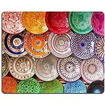 luxlady Gaming Mousepad imagen ID: 25987969 tradicional árabe Handcrafted colorido decorado Platos Shot en el