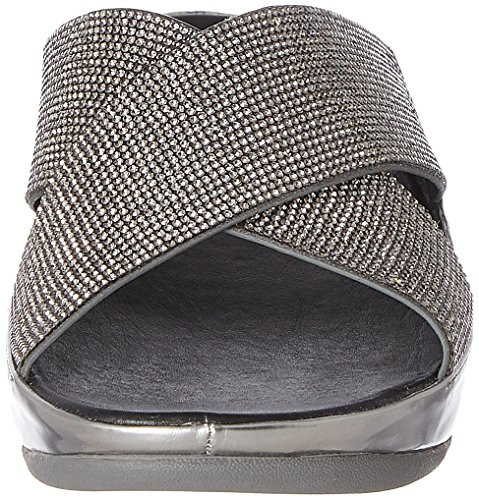 étain De Sandales Fitflop Crystall Diapositive Pewter