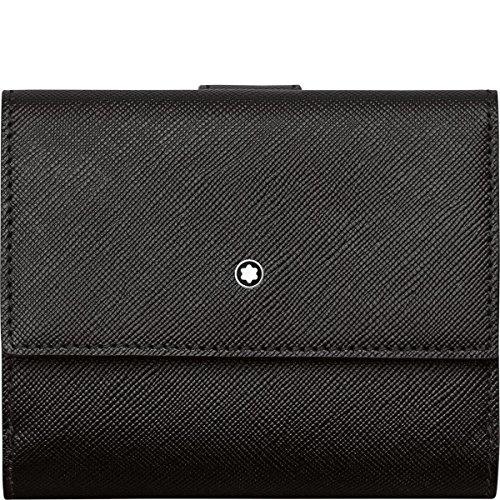 Montblanc Sartorial Brieftasche 5 cc mit Sichtfach Scheckbuchhülle, 11 cm, Schwarz