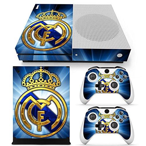 GoldenDeal Skin für Xbox One S Konsole und Wireless Controller, Vinyl, Motiv Fußball
