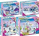 PLAYMOBIL® Magic 4er Set 9471 9472 9473 9474 Kristalltor + Phönix + Schneetroll + Schlitten
