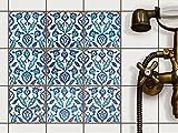 Dekor-Fliesen Fliesenaufkleber - CREATISTO Fliesensticker| Fliesen überkleben Aufkleber Folie Sticker für Badfliesen - Küche Deko Badezimmer-gestaltung | 10x10 cm - Design Hamam Vibes - 36 Stück
