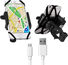 Blackcat Mobile Charger with Holder for All Bikes & Micro USB Cable
