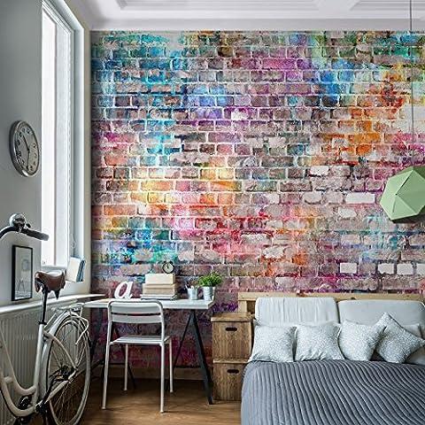 Fototapete Steinwand 396 x 280 cm - Vliestapete - Wandtapete - Vlies Phototapete - Wand - Wandbilder XXL - !!! 100% MADE IN GERMANY !!! Runa Tapete 9020012b