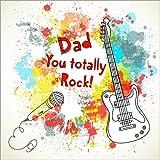 Posterlounge Alu Dibond 120 x 120 cm: Papa Du rockst! von Kidz Collection/Editors Choice