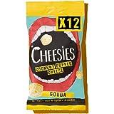 Cheesies - Snack de Queso Crujiente, Gouda - Sin Carbohidratos - Alto en Proteínas, Sin Gluten, Vegetariano, Ceto - 12 Bolsas