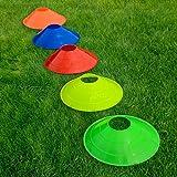 Markierungsteller, 50 Stück, mit Ständer, beste Qualität [Net World Sports] (Markierungsteller mehrfarbig) - 4