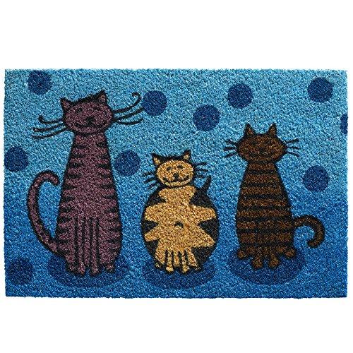 Kölle Kokos-Fußmatte Katzen 40x60 cm