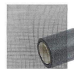 6,90€/m² Fliegengitter Gaze Gewebe Meterware Ersatzrolle - Draht Balkontür, Fenster groß und Dachfenster - Netz als Rolle in Schwarz individuell zuschneidbar Feines Gewebe Fiberglas 120 cm 70%