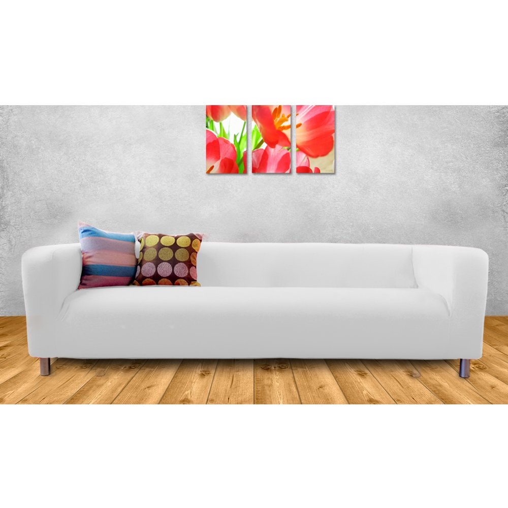 Shopisfy Replacement Cover For Ikea Klippan Sofa 4 Seater   White:  Amazon.co.uk: Kitchen U0026 Home