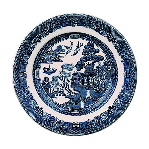 Johnson Brothers Willow Blue Bread & Butter Plate, 6, Blue by Johnson Brothers (Blue Plate Wedgwood)